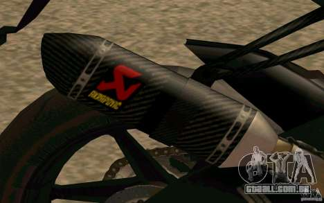 BMW S1000RR City Version para GTA San Andreas vista traseira