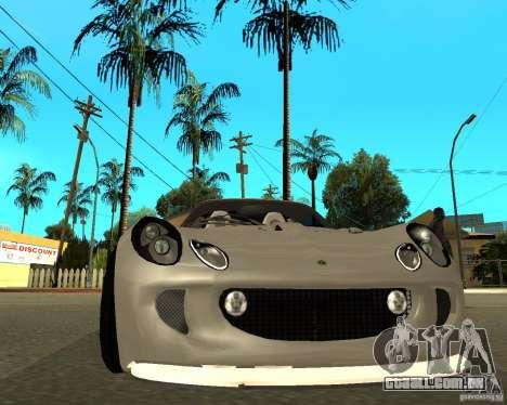 Lotus Exige para GTA San Andreas vista direita