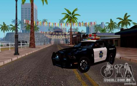Ford Shelby Mustang GT500 Civilians Cop Cars para GTA San Andreas esquerda vista