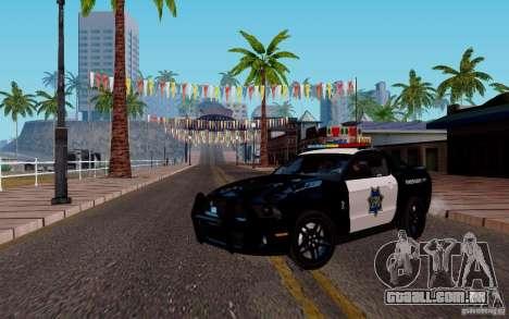 Ford Shelby Mustang GT500 Civilians Cop Cars para GTA San Andreas esquerda vista