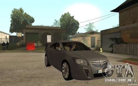 Opel Insignia 2010 para GTA San Andreas vista traseira