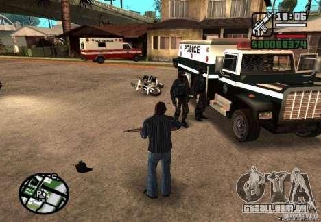 Ganhou liberdade de polícia 1.0 para GTA San Andreas segunda tela