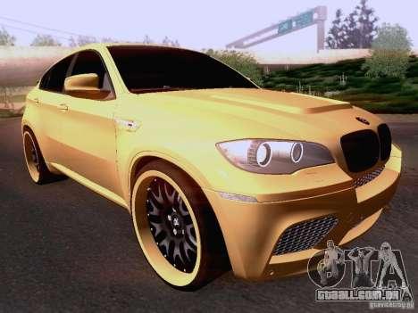 BMW X6M Hamann para GTA San Andreas esquerda vista