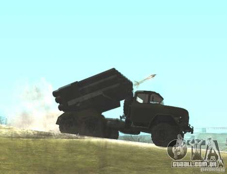 ZIL-131 em Grad para GTA San Andreas vista direita