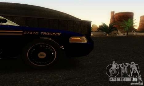 Ford Crown Victoria Orgeon Police para GTA San Andreas vista direita