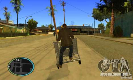 Shopping Cart Faggio V2 para GTA San Andreas vista traseira