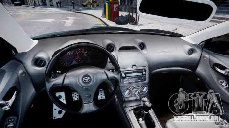 Toyota Celica Tuned 2001 v1.0 para GTA 4 vista de volta