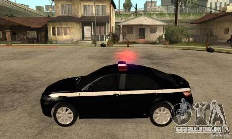 Toyota Camry 2010 SE Police RUS para GTA San Andreas esquerda vista