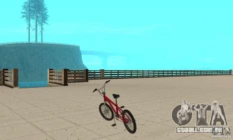 SA BMX para GTA San Andreas traseira esquerda vista