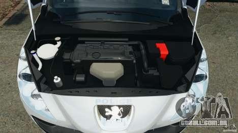 Peugeot 308 GTi 2011 Police v1.1 para GTA 4 vista superior