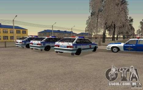 Polícia PSB Vaz 2114 para GTA San Andreas esquerda vista