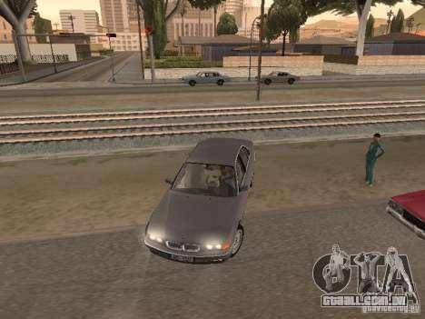 BMW 740 para GTA San Andreas vista interior