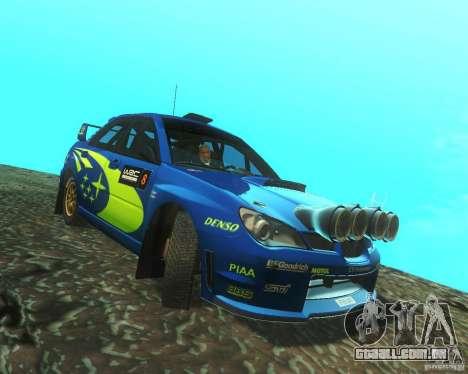 Subaru Impreza WRX STI DIRT 2 para GTA San Andreas vista traseira
