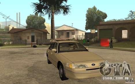 Ford Crown Victoria LX 1992 para GTA San Andreas vista traseira