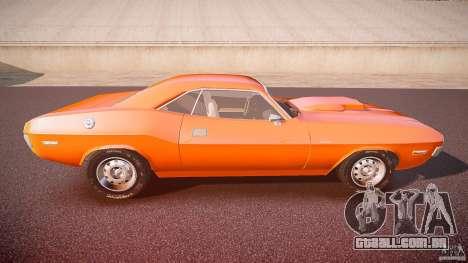 Dodge Challenger v1.0 1970 para GTA 4 vista lateral