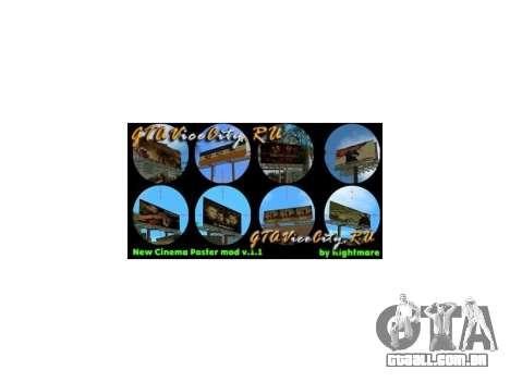 New Cinema Poster mod GTA Vice City para GTA Vice City