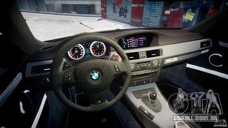 BMW M3 Hamann E92 para GTA 4 vista de volta