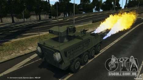 Stryker M1134 ATGM v1.0 para GTA 4 vista inferior