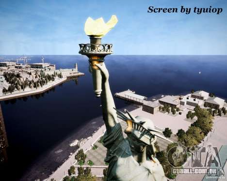 New Statue of Liberty para GTA 4 por diante tela