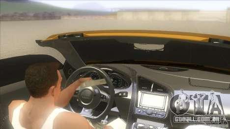Audi R8 5.2 FSI Spider para GTA San Andreas esquerda vista