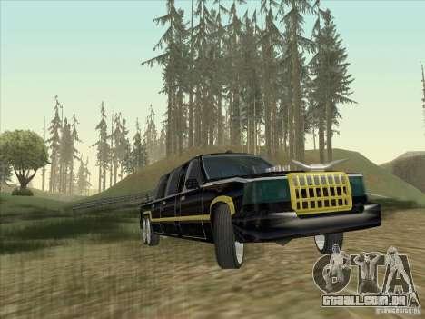 Limousine para GTA San Andreas vista traseira