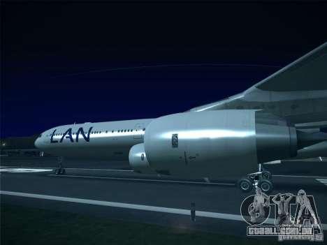 Airbus A340-600 LAN Airlines para GTA San Andreas traseira esquerda vista