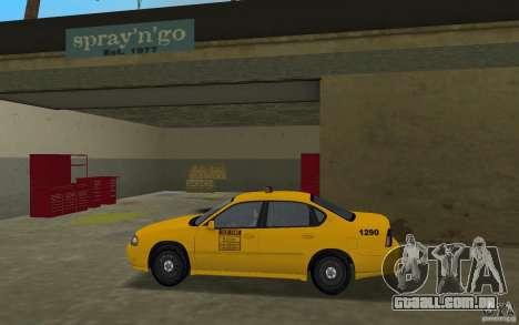 Chevrolet Impala Taxi para GTA Vice City deixou vista