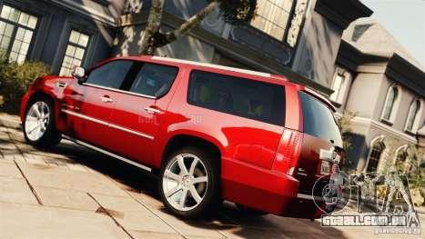 Cadillac Escalade ESV Platinum 2012 para GTA 4 esquerda vista