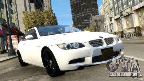 BMW M3 E92 2008 v1.0 para GTA 4 vista direita
