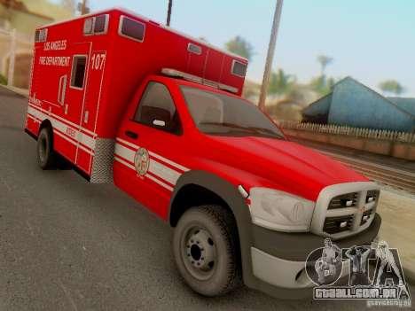 Dodge Ram 1500 LAFD Paramedic para GTA San Andreas vista traseira