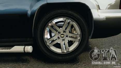 Chevrolet Tahoe LCPD SWAT para GTA 4 vista inferior