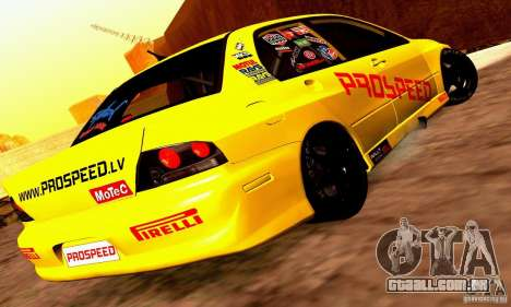 Mitsubishi Lancer Evolution VIII - ProSpeed para GTA San Andreas vista direita