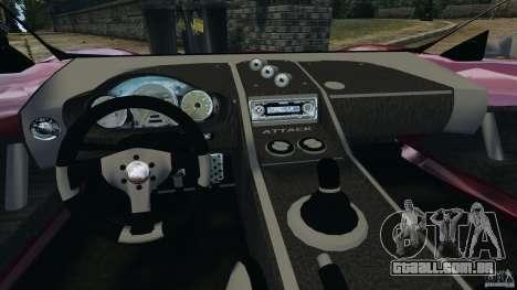 K-1 Attack Roadster v2.0 para GTA 4 vista de volta