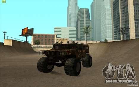 Hummer H1 Humster para GTA San Andreas traseira esquerda vista