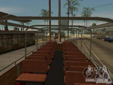 LIAZ 677 excursão para GTA San Andreas vista traseira
