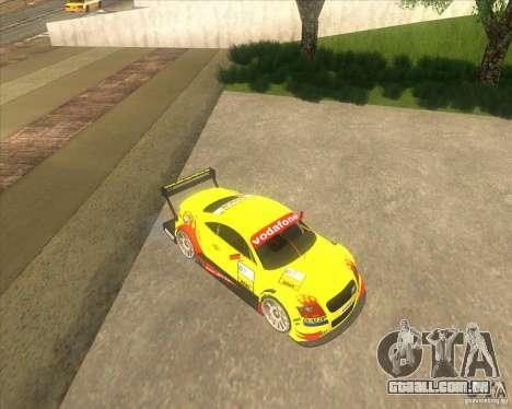 Audi TTR DTM racing car para GTA San Andreas traseira esquerda vista