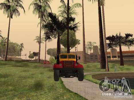 YAZ 214 para GTA San Andreas vista traseira