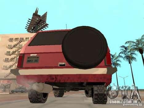 O novo Huntley para GTA San Andreas vista direita