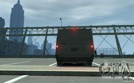 Ford Transit 2011 para GTA 4 vista direita