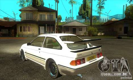 Ford Sierra RS500 Cosworth 1987 para GTA San Andreas vista traseira