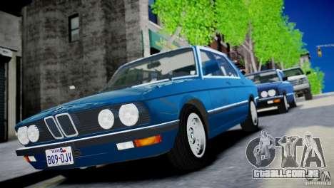 BMW 535 E28 para GTA 4 traseira esquerda vista