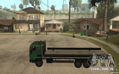 DFT30 Dumper Truck para GTA San Andreas esquerda vista