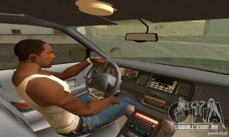 Ford Crown Victoria New Mexico Police para GTA San Andreas traseira esquerda vista