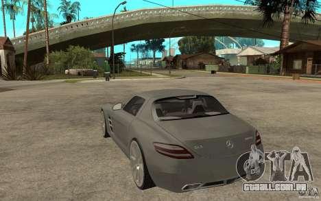 Mercedes-Benz SLS para GTA San Andreas traseira esquerda vista