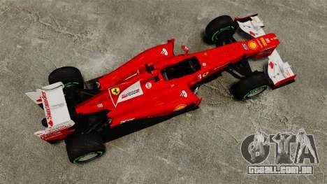 Ferrari F2012 para GTA 4 vista direita