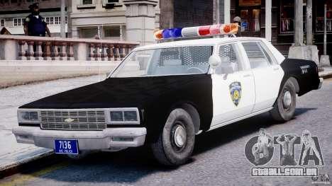 Chevrolet Impala Police 1983 [Final] para GTA 4 esquerda vista