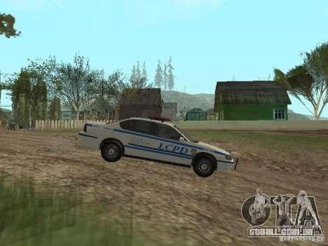 Polícia de GTA 4 para GTA San Andreas esquerda vista