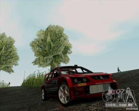Mitsubishi Lancer Evolution VIII WRC para GTA San Andreas esquerda vista