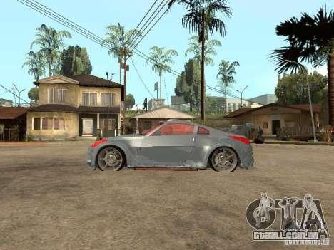 Nissan 350Z Virgo para GTA San Andreas esquerda vista