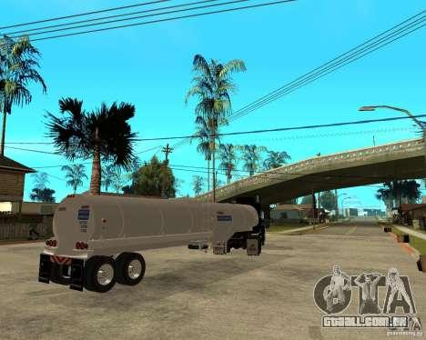Rubber Duck Mack para GTA San Andreas traseira esquerda vista